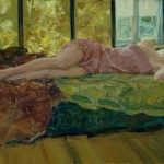 Afternoon Nap, oil, 14 x 24.