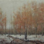 Nancy Bush, Autumn into Winter, oil, 24 x 30.