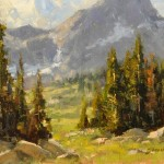 Greg Scheibel, Above Mirror Lake, oil plein-air painting