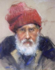 Adam Kelley, The Red Cap, pastel, 18 x 14.