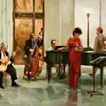 After-Hours Ensemble, oil, 20 x 30.