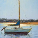 Robert Rohm, Afternoon at Anchor, oil, 24 x 18.