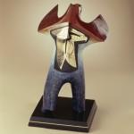 Rebecca Tobey, American Bear, bronze, 22 x 13 x 13.