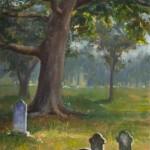 Amy Karnes, Still the Sun Shines Through, oil, 20 x 10.
