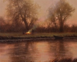 Brent Cotton, An Early Start, oil, 24 x 30.