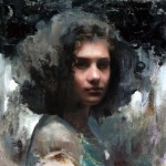 Mia Bergeron, Anarchist, oil, 10 x 10.