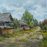 Andrey Shirokov, August in the Village Zinovo, oil, 20 x 28.