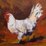 Anita Mosher, Strut, oil, 14 x 14.
