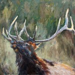 Anita Mosher, Bugle Boy, oil, 50 x 48.