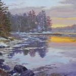 Ann Self, Back River Sunset, oil, 16 x 20.