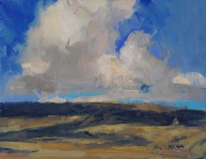 Ann Larsen, Under Colorado Skies, oil, 8 x 10.