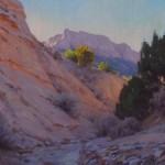 J. Chris Morel | Arroyo Morning, oil, 16 x 20.