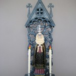 Arthur Lopez, Reina de la Muerte, wood/mixed media