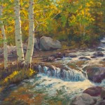 Robert Rohm, Aspen Waters, oil, 36 x 40.