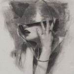 Casey Baugh, Assimilation, charcoal, 16 x 12.