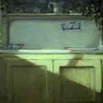 Carol Jenkins, At the Sink, oil, 18 x 24.