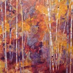 Lelija Roy, Autumn Glory, mixed media, 24 x 24.