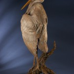 Ken Rowe, Great Blue Heron Monument (detail), bronze, 52 x 24 x 19.