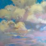 Samantha Buller, Cerulean Sky, oil, 30 x 48.