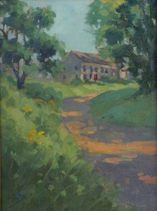 J.E. Daly, Backroad, Bennington, oil, 9 x 12.