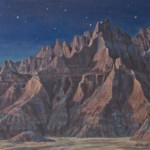 Brenda Howell, Badlands Nocturna, oil, 12 x 16.