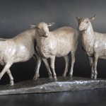Tucker Bailey, Amber Waves, bronze, 12 x 28 x 8.