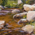 Mitch Baird, Bear Creek Boulders, oil, 12 x 16.