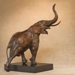 Onward and Upward, bronze, 9 x 5 x 10.
