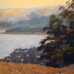 Clark Mitchell, Bay Guardian, pastel, 17 x 26.