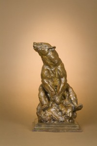 Tim Shinabarger, Bear Grass and Blossoms, bronze, 15 x 9 x 8.