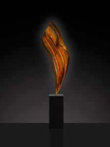 Errol Beauchamp, Flow, bronze, 34 x 17 x 7.