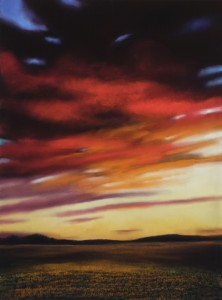 Kathy Beekman, A Good Sunset, pastel, 30 x 22.