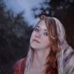 Derek Harrison, Bette Davis Eyes, oil, 11 x 14.