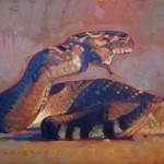 Dennis Ziemienski, Big Rattler, oil, 30 x 40.