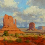 Bill Cramer, Desert Echoes, Oil on linen, 20 x 24.