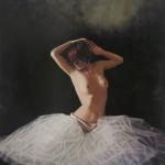 Jacquelyn Bischak, Entre Nous, oil, 40 x 44.