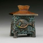 Bluegill Vessel, bronze, 3 x 4 x 2.