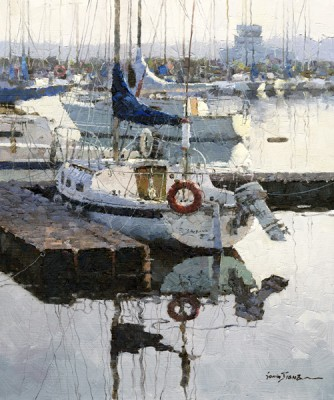 Xiao Song Jiang, Boat Place, oil, 10 x 8.