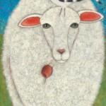 Lori Faye Bock, The Visitor, acrylic, 40 x 30.