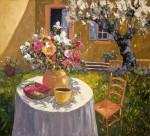Evelyne Boren, Bonjour, oil, 36 x 40.
