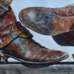 Nelson Boren, Get'n Serious, watercolor 20 x 73.