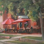Breakfast at Maggies, oil, 12 x 16.
