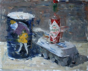 Clyde Steadman, Breakfast, oil still-life painting