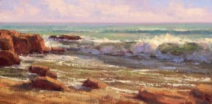 Greg Scheibel, Breaking Wave, oil, 8 x 16.