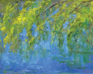 Joseph Breza, Willows in Spring, oil, 24 x 30.