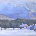 Brian Jillson, Frosted Valley, oil, 23 x 30.