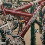 Dianne Massey-Dunbar, Bicycles III, oil, 24 x 24.