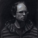 Brock Alius | Self Portrait 2, charcoal/chalk, 14 x 18.