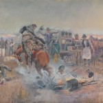 Charles M. Russell, Bronc to Breakfast, 1908, watercolor, Montana Historical Society, Mackay Collection.