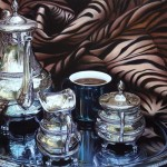 Hebe Brooks, Coffee Time in the Serengeti, oil, 20 x 30.